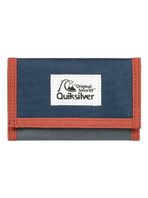 QUIKSILVER MENS WALLET.NEW EVERYDAILY TRIFOLD MONEY NOTE COIN CARD PURSE 9W BY
